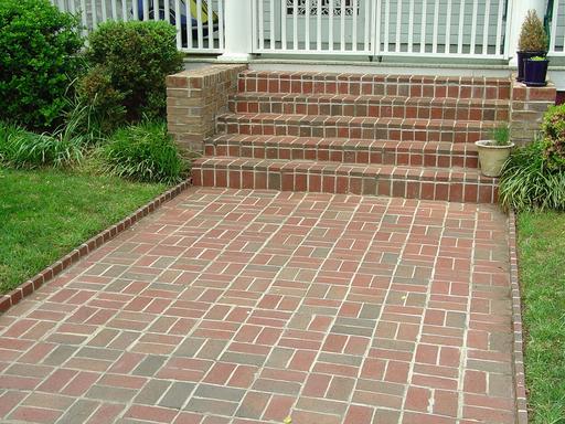 Basket Weave Pattern Pavers : Imagine brick steps